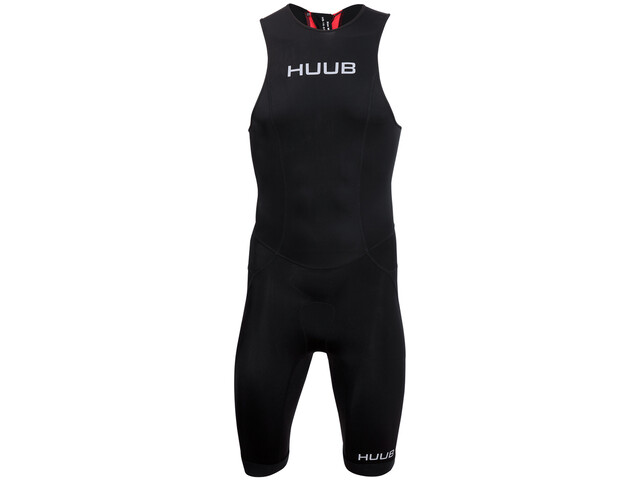HUUB Essential Tri Suit Ritssluiting achter Heren, black/red